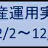 資産運用実績(12/2~12/6)