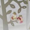 【ハンドメイド】紫陽花のガラスドームピアス