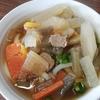 これが・・イノシシ肉・・なのか・・??そばウマい @谷川製麺所