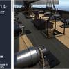 Naval Cutter – 14-Carronade Cutter 1830年代の帆船がリアルに可動する「フランス海軍船」3Dモデル(大砲エフェクトがついに実装)