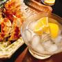 【今夜の晩酌】大阪土産「大阪王将 餃子の素」で餃子2種と、糸島の白糸酒造「白糸55」でレモンサワー♡