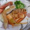 幸運な病のレシピ( 812 )朝:パナメエビの甘酢餡、手羽悪魔風、レストランポイポイ