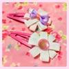 【簡単】リボンで作るかわいいお花のパッチンピン