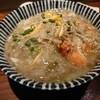 コントラバス練習帰りに夜ご飯。金沢市新保本にあるチョップスティックで、柚香るズワイガニと野菜のあんかけ飯と、サーモンとチーズのクリームコロッケ。