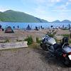 台風一過で支笏湖へ