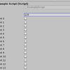 インスペクタにboolの配列を出すとき、チェックボックスを横に並べて表示させる方法
