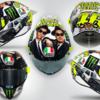 ★MotoGP2016ロッシ ブルース・ブラザースがモチーフのスペシャルヘルメットを公開