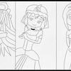 プリンセストリオのイラストの下書きが一応、完成。