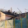 工事82日目:屋根防水シート貼り
