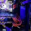 本格水冷 リザーバー取り付けのプラ板変更