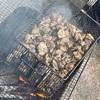 地鶏の炭火焼き!
