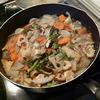 幸運な病のレシピ( 334 )朝:煮しめ、みそ汁、イワシ下ごしらえ、茹大豆、カボチャ