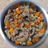 大豆肉となすとにんじんのオリーブオイル炒め
