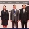 韓国大統領府HPの画像が北朝鮮との写真