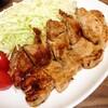 【今日のごはん】塩麹でやわらかく!ブタの厚切りステーキ