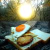 畑の朝ごはん ハムカツエッグトーストサンド