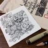 ゼンタングルの描き方とパターンの描き方