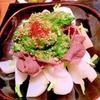 ラム肉と小蕪のたっぷりネギ塩だれ温サラダ