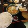 神田【季節料理 竹仙】仙台麩と冬瓜、鶏の煮物と刺身定食 ¥1000+ご飯大盛 ¥100