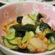 ホタテ・ワカメ・キュウリの酢味噌和え