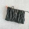 メランジのブラックデニム色で編むニット帽(2)