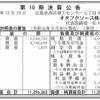 オタフクソース株式会社 第10期決算公告