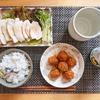 黒豆ご飯と鶏むねポン酢でさっぱり晩御飯