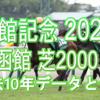 【函館記念 2021】過去10年データと予想