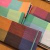 きれいな色の半巾帯