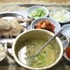 忠武路 美味しい鶏の水炊き定食@사랑방 칼국수