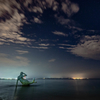 午前0時:伊計島でオリオン座流星群、広角レンズで星空を撮ってみたよ