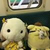 感染防止ソーシャルディスタンスにぬいぐるみが活躍!ぬいぐるみを電車の席に座らせる