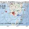 2017年08月07日 09時24分 鹿児島県薩摩地方でM3.4の地震