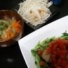 バンバンジー風、スープ、大根サラダ