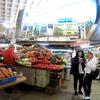 ウクライナ旅行[84] キエフの観光スポット 新鮮な果物・ドライフルーツが揃うキエフの市場(ринок)(2019年10月)
