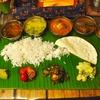 千歳船橋の「カルパシ」でKelala Banana Leaf Prawn Meals(バナナリーフミールス)。