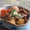 乾姜を使ってモツ煮を作る。