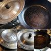 私が愛用している鉄製のフライパンとアルミ製の鍋蓋<我が家の調理器具>
