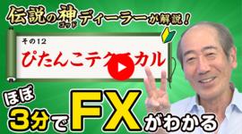 【FX初心者⑫】ぴたんこテクニカル「伝説の神ディーラーが解説!ほぼ3分FX」