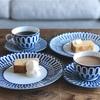 【エルメスのブルーダイユール】エルメスの食器でお茶が飲めるカフェ・ルポポ。