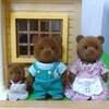 シルバニア 初期ブラウンクマに家族ができたよ