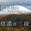 【10月】浅間山外輪山:車坂峠より登る -信濃の三段黄葉-
