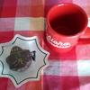 今日のおやつはにしき堂のメープルチョコレート(スイート)とブラックコーヒー