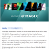 MAGIXからWelcome to MAGIXというメールが届いた