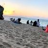 夕焼け待ちの砂浜 ~自然といる時間~