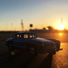 MERCEDES BENZ 300CLに乗って、夕陽をながめてうっとり。
