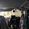 車中泊のお布団は車に残したまま