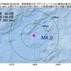 2017年09月25日 05時45分 東海道南方沖でM4.9の地震