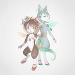 橙と緑の妖精