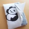 パンダのポケットティッシュケース 貼って作る